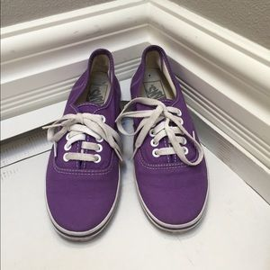 VANS Off The Wall Shoes Sneakers Purple Size 7